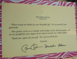 Obama thankyou with env