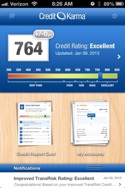 credit karma--score